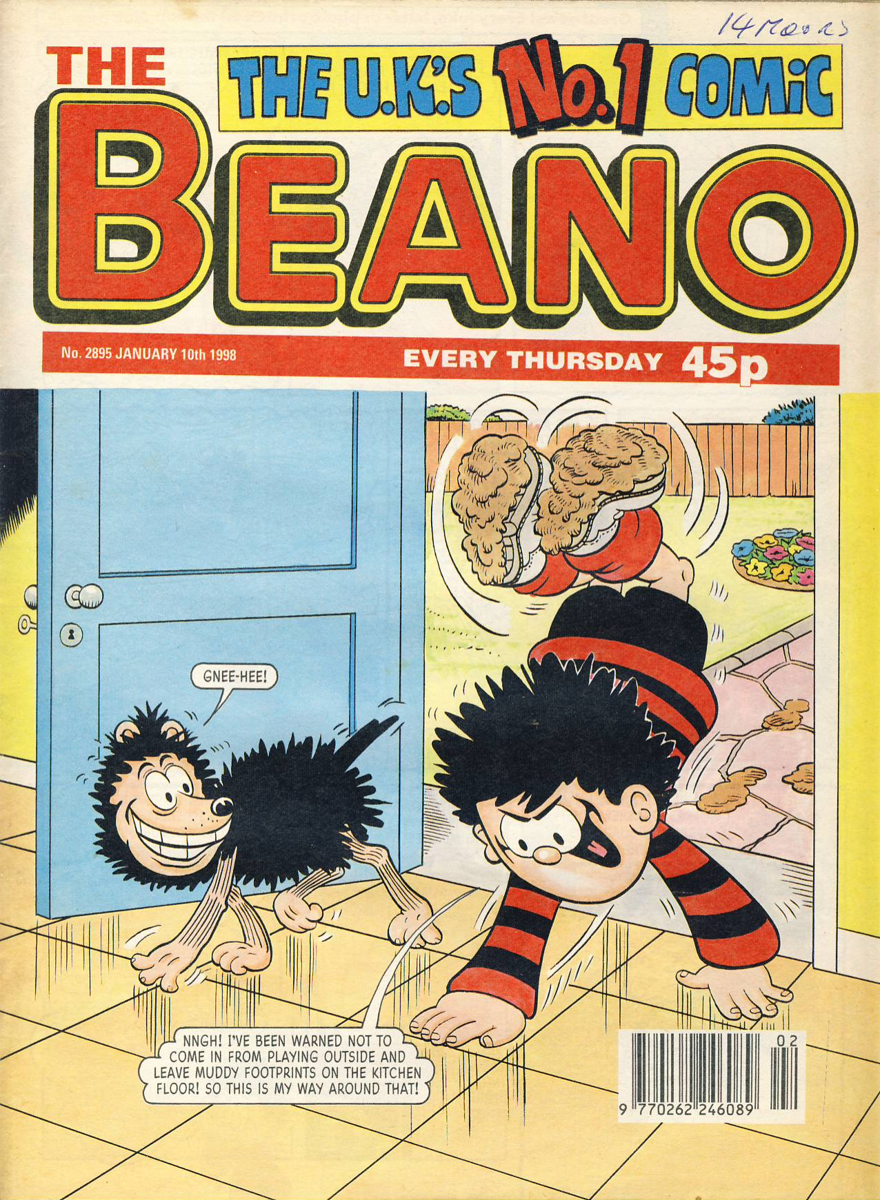 1998 January 10th BEANO vintage comic Good Gift Christmas Present Birthday Anniversary ref260 a pre-owned item in very good read condition.