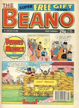 1990 July 7th BEANO vintage comic Good Gift Christmas Present Birthday Anniversary ref267 a pre-owned item in very good read condition.