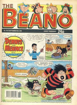 1990 September 8th BEANO vintage comic Good Gift Christmas Present Birthday Anniversary ref270 a pre-owned item in very good read condition.