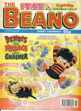 1998 June 20th BEANO vintage comic Good Gift Christmas Present Birthday Anniversary ref271 a pre-owned item in very good read condition.
