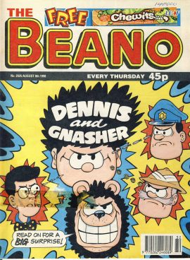 1998 August 8th BEANO vintage comic Good Gift Christmas Present Birthday Anniversary ref274 a pre-owned item in very good read condition.