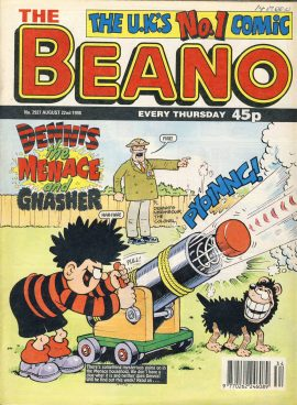 1998 August 22nd BEANO vintage comic Good Gift Christmas Present Birthday Anniversary ref276 a pre-owned item in very good read condition.