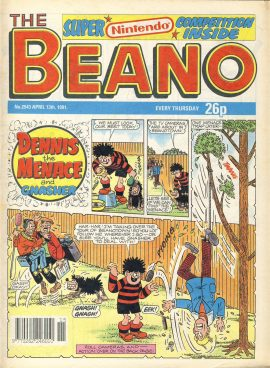 1991 April 13th BEANO vintage comic Good Gift Christmas Present Birthday Anniversary ref277 a pre-owned item in very good read condition.