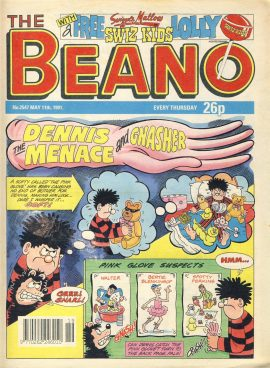 1991 May 11th BEANO vintage comic Good Gift Christmas Present Birthday Anniversary ref279 a pre-owned item in very good read condition.