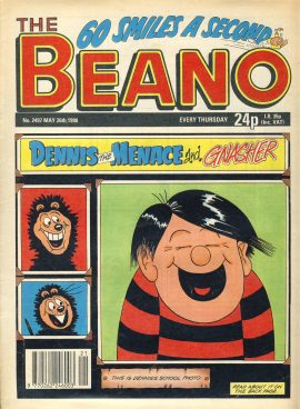1990 May 26th BEANO vintage comic Good Gift Christmas Present Birthday Anniversary ref280 a pre-owned item in very good read condition.