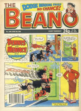 1990 June 9th BEANO vintage comic Good Gift Christmas Present Birthday Anniversary ref281 a pre-owned item in very good read condition.