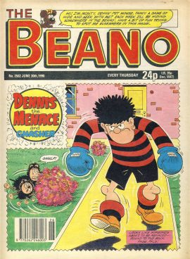 1990 June 30th BEANO vintage comic Good Gift Christmas Present Birthday Anniversary ref282 a pre-owned item in very good read condition.