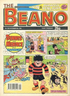 1990 December 8th BEANO vintage comic Good Gift Christmas Present Birthday Anniversary ref283 a pre-owned item in very good read condition.