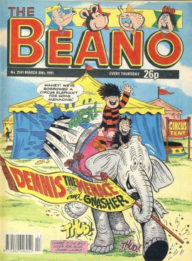 1991 March 30th BEANO vintage comic Good Gift Christmas Present Birthday Anniversary ref2804 a pre-owned item in very good read condition.