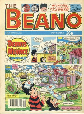1991 April 6th BEANO vintage comic Good Gift Christmas Present Birthday Anniversary ref285 a pre-owned item in very good read condition.