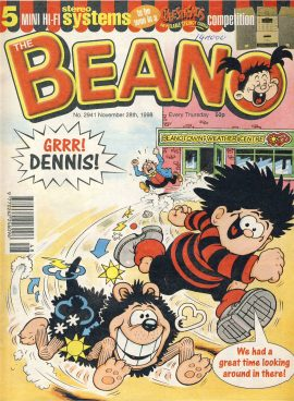 1998 November 28th BEANO vintage comic Good Gift Christmas Present Birthday Anniversary ref288 a pre-owned item in very good read condition.