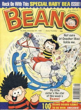 1998 December 5th BEANO vintage comic Good Gift Christmas Present Birthday Anniversary ref289 a pre-owned item in very good read condition.