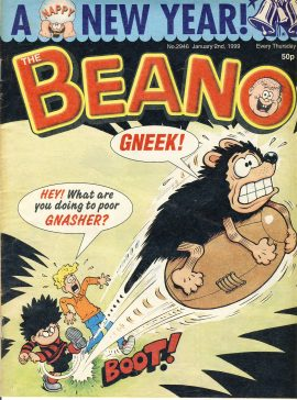 1999 January 2nd BEANO vintage comic Good Gift Christmas Present Birthday Anniversary ref290a pre-owned item in good read condition.