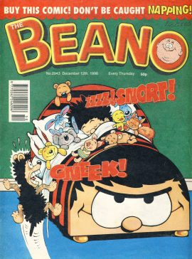 1998 December 12th BEANO vintage comic Good Gift Christmas Present Birthday Anniversary ref291a pre-owned item in good read condition.