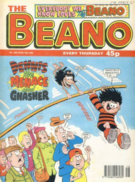 1998 April 18th BEANO vintage comic Good Gift Christmas Present Birthday Anniversary ref292a pre-owned item in good read condition.