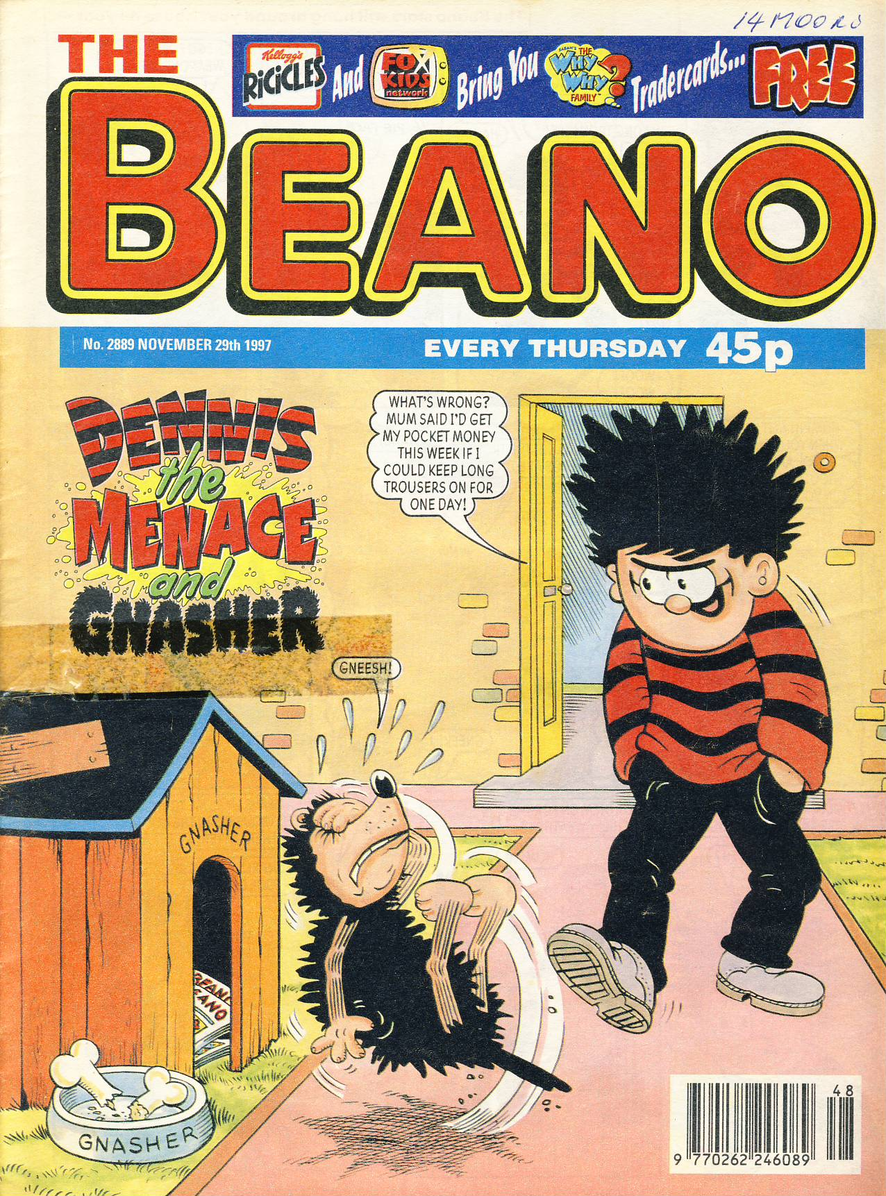 1997 November 29th BEANO vintage comic Good Gift Christmas Present Birthday Anniversary ref296a pre-owned item in good read condition.