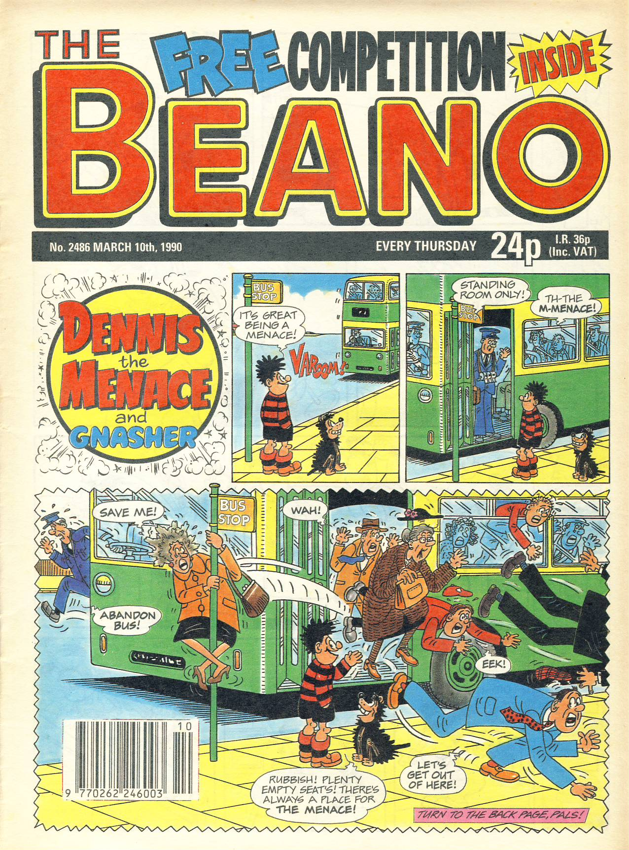1990 March 10th BEANO vintage comic Good Gift Christmas Present Birthday Anniversary ref298a pre-owned item in good read condition.