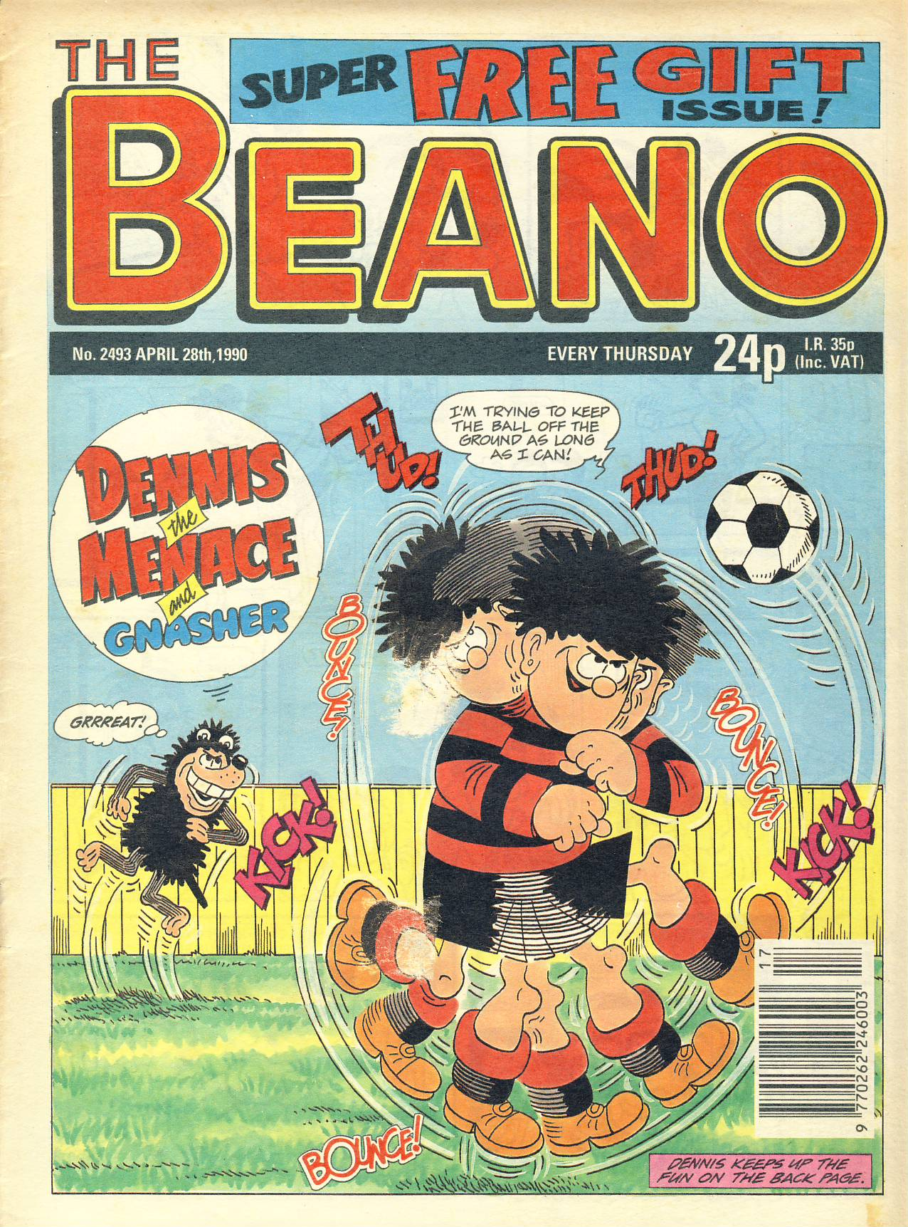 1990 April 28th BEANO vintage comic Good Gift Christmas Present Birthday Anniversary ref300a pre-owned item in good read condition.
