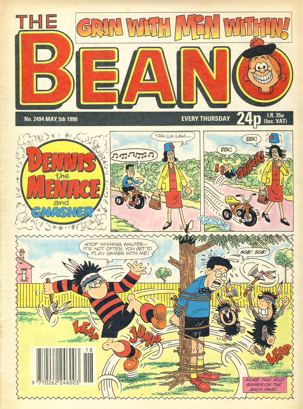 1990 May 5th BEANO vintage comic Good Gift Christmas Present Birthday Anniversary ref301a pre-owned item in good read condition.