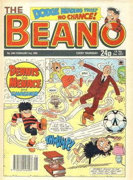 1990 February 3rd BEANO vintage comic Good Gift Christmas Present Birthday Anniversary ref302a pre-owned item in good read condition.