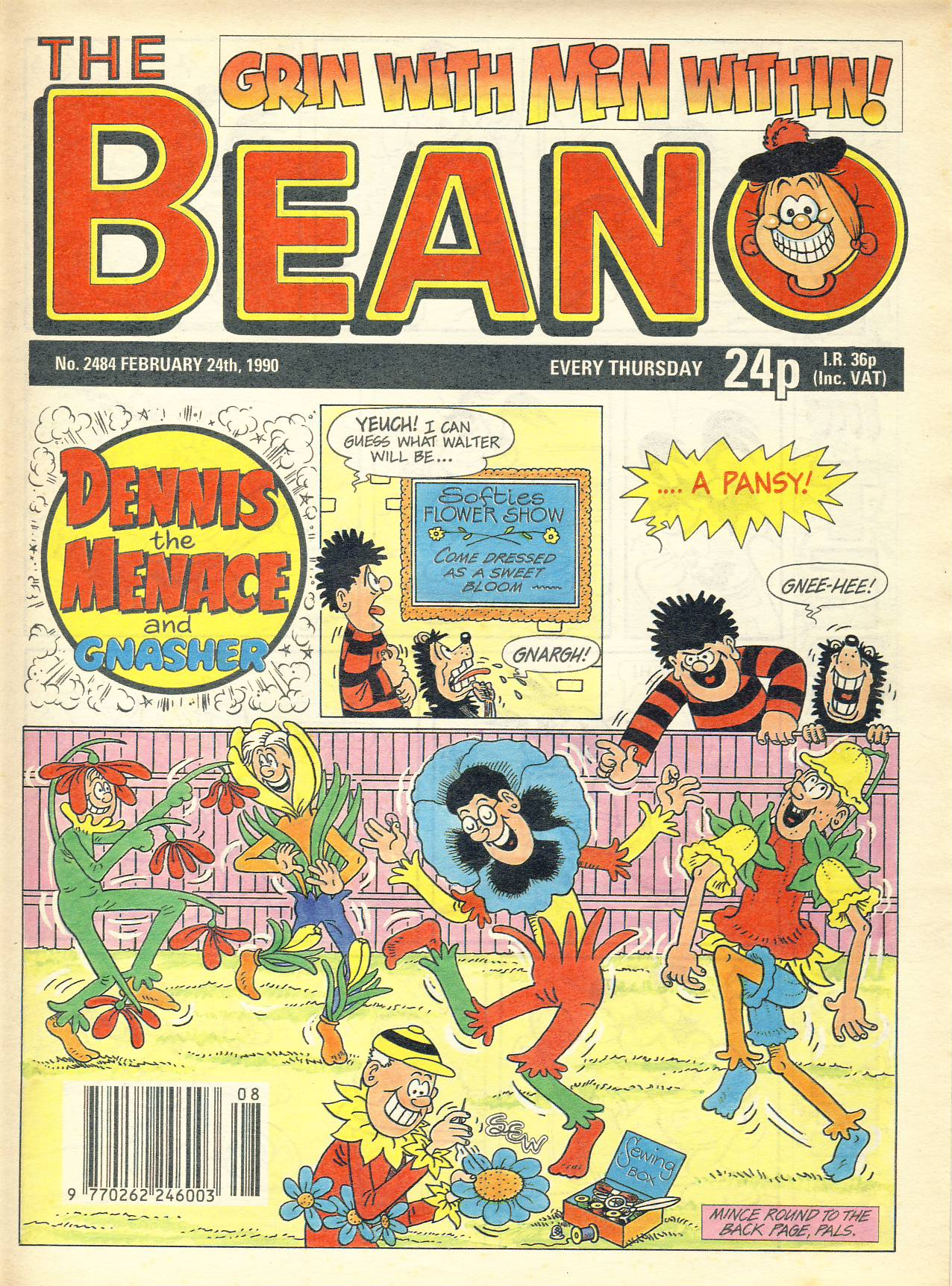 1990 February 24th BEANO vintage comic Good Gift Christmas Present Birthday Anniversary ref303a pre-owned item in good read condition.