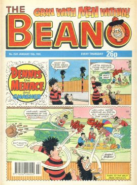 1991 January 19th BEANO vintage comic Good Gift Christmas Present Birthday Anniversary ref304a pre-owned item in good read condition.