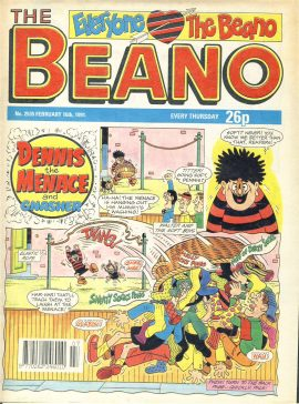1991 February 16th BEANO vintage comic Good Gift Christmas Present Birthday Anniversary ref306a pre-owned item in read condition.