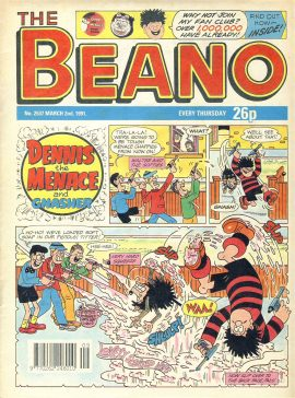 1991 March 2nd BEANO vintage comic Good Gift Christmas Present Birthday Anniversary ref307a pre-owned item in good read condition.