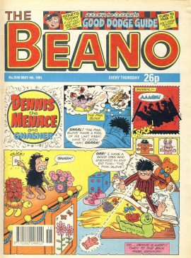 1991 May 4th BEANO vintage comic Good Gift Christmas Present Birthday Anniversary ref309a pre-owned item in good read condition.