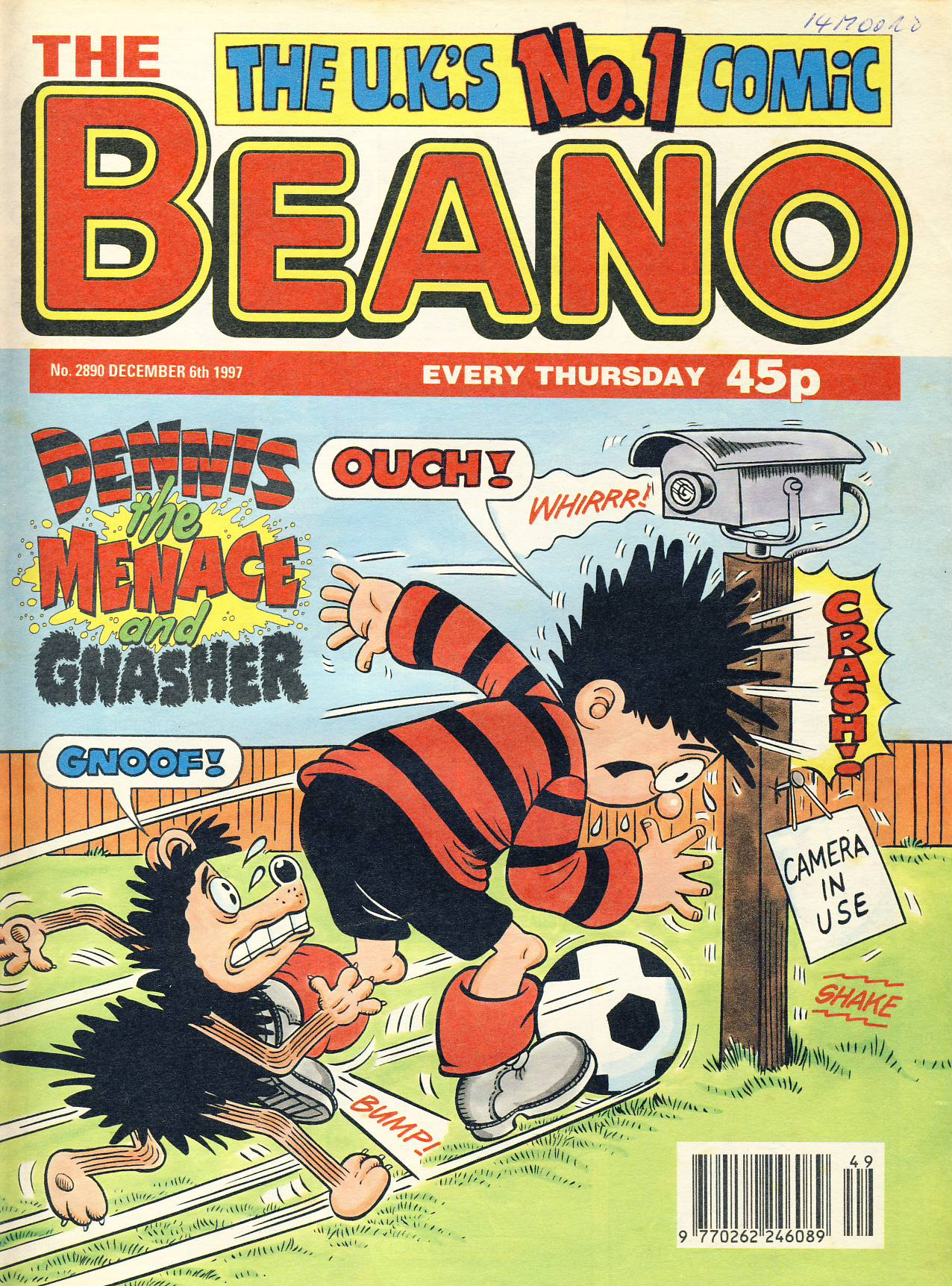 1997 December 6th BEANO vintage comic Good Gift Christmas Present Birthday Anniversary ref310a pre-owned item in good read condition.