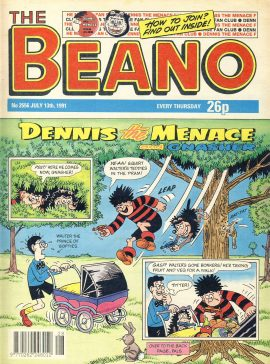 1991 July 13th BEANO vintage comic Good Gift Christmas Present Birthday Anniversary ref311a pre-owned item in good read condition.