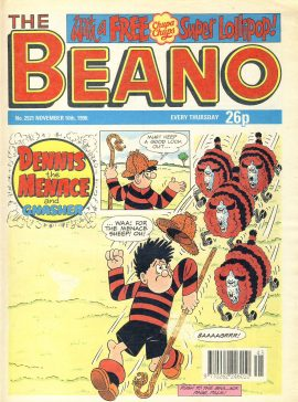 1990 November 10th BEANO vintage comic Good Gift Christmas Present Birthday Anniversary ref313a pre-owned item in good read condition.