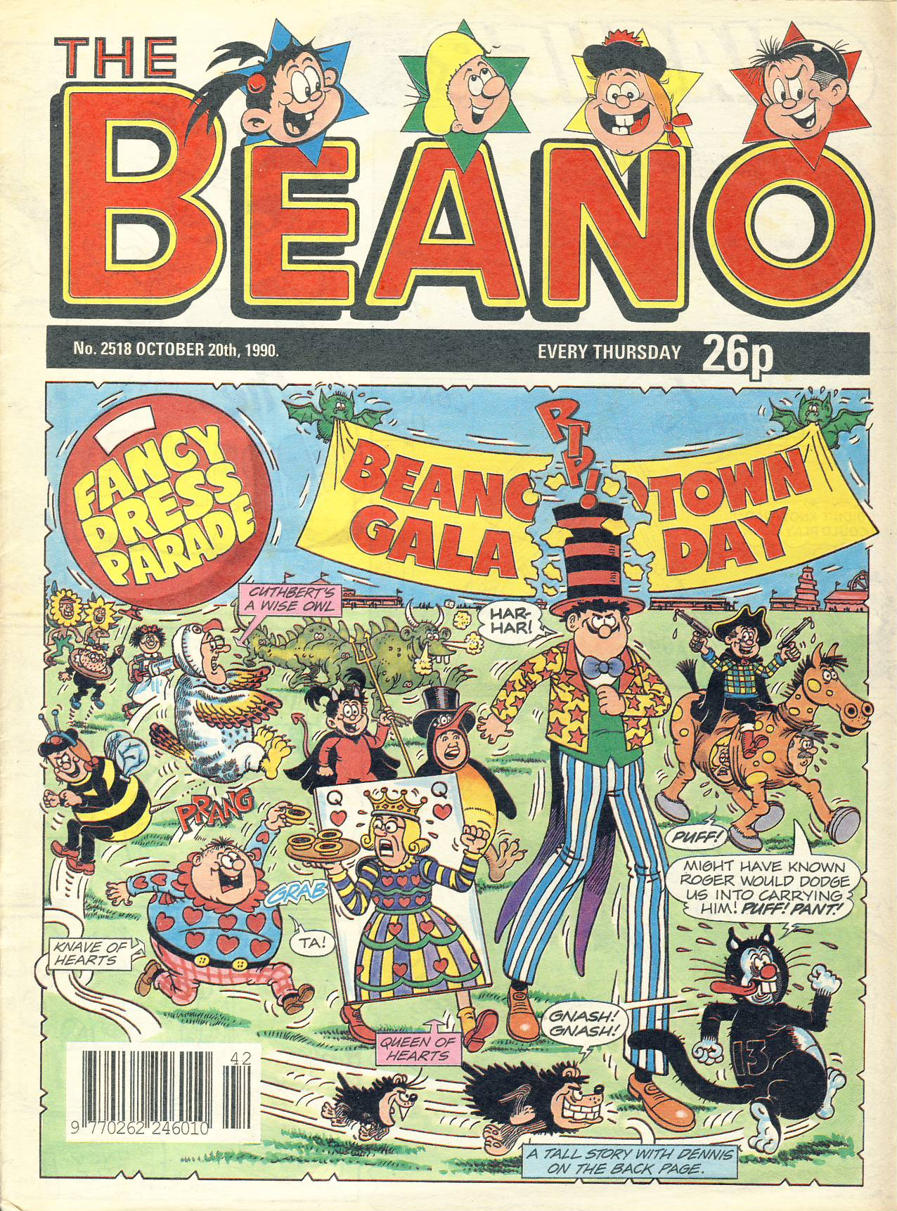 1990 October 20th BEANO vintage comic Good Gift Christmas Present Birthday Anniversary ref314a pre-owned item in good read condition.