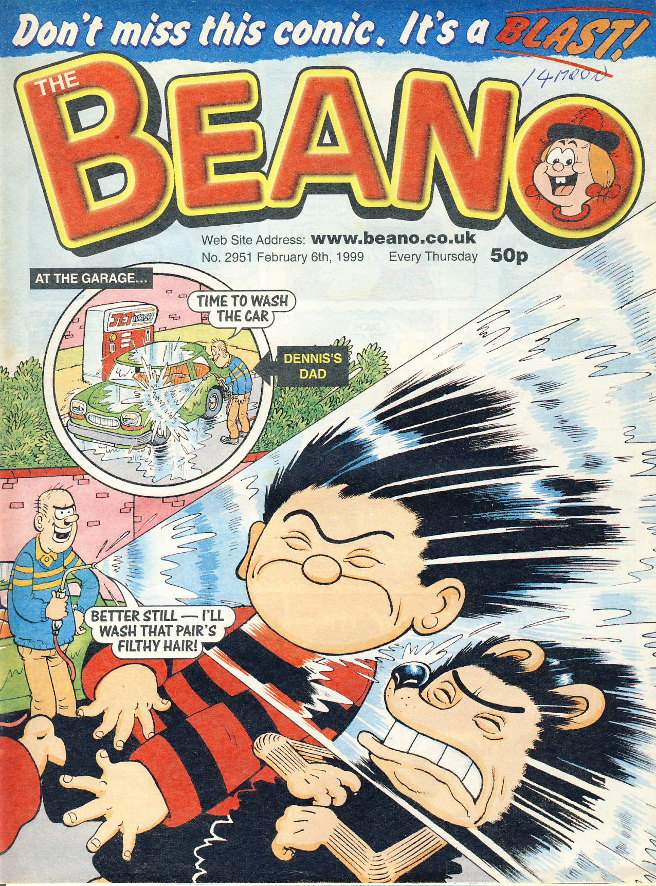 1999 February 6th BEANO vintage comic Good Gift Christmas Present Birthday Anniversary ref319a pre-owned item in good read condition.