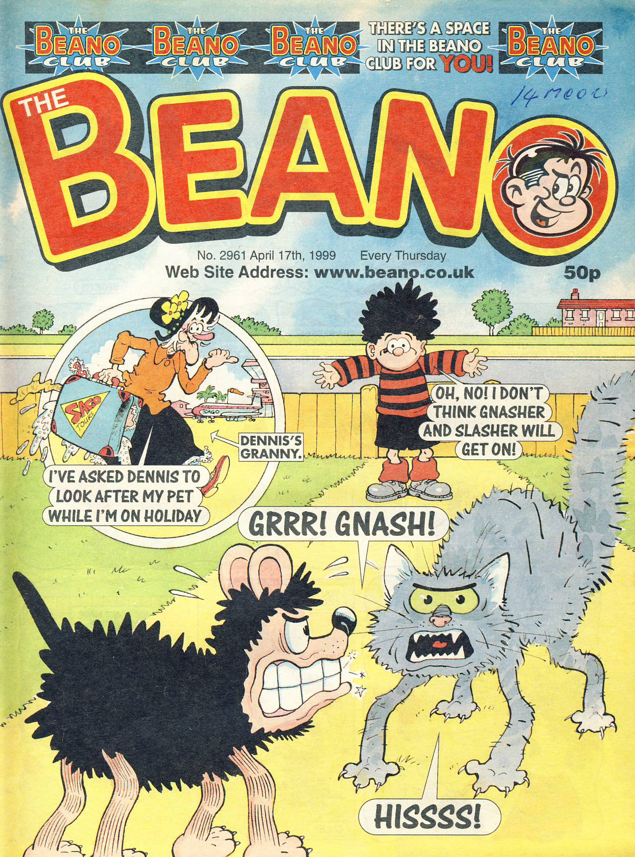 1999 April 17th BEANO vintage comic Good Gift Christmas Present Birthday Anniversary ref320a pre-owned item in good read condition.