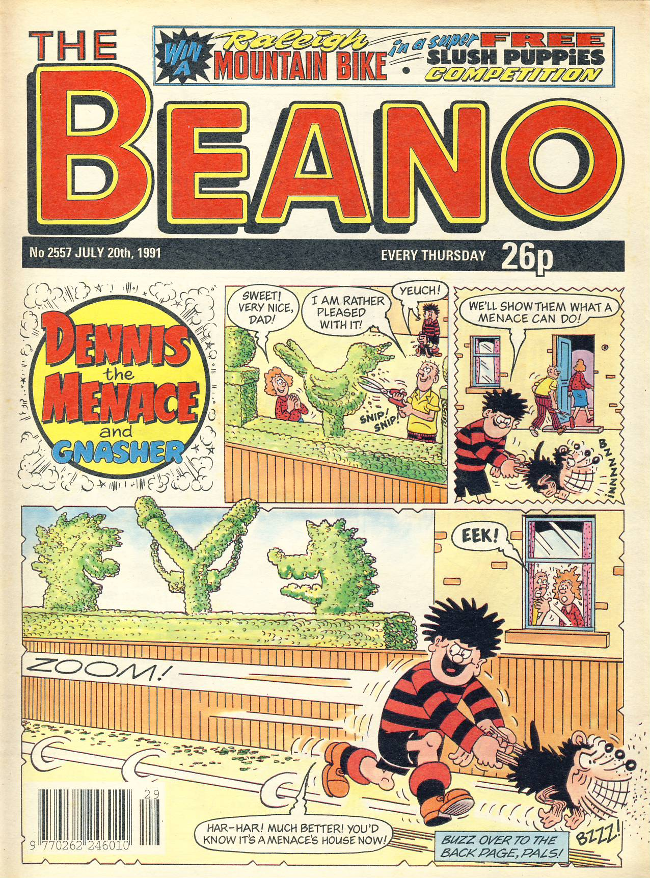 1991 July 20th BEANO vintage comic Good Gift Christmas Present Birthday Anniversary ref321a pre-owned item in good read condition.