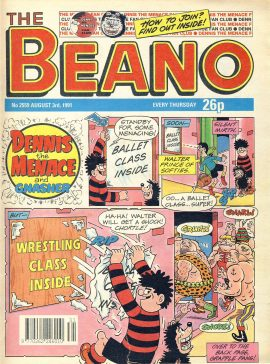 1991 August 3rd BEANO vintage comic Good Gift Christmas Present Birthday Anniversary ref322a pre-owned item in good read condition.