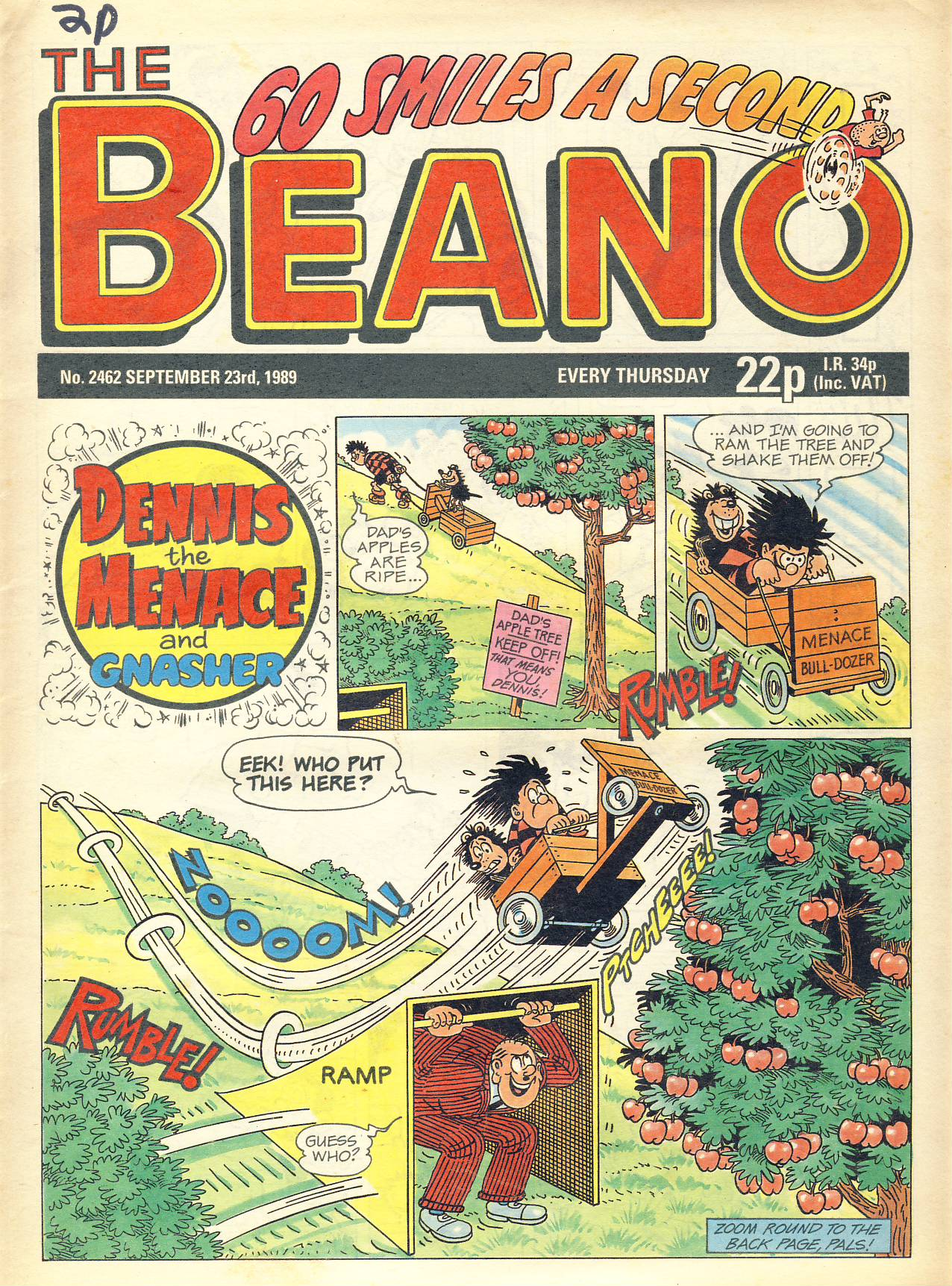 1989 September 23rd BEANO vintage comic Good Gift Christmas Present Birthday Anniversary ref323a pre-owned item in good read condition.