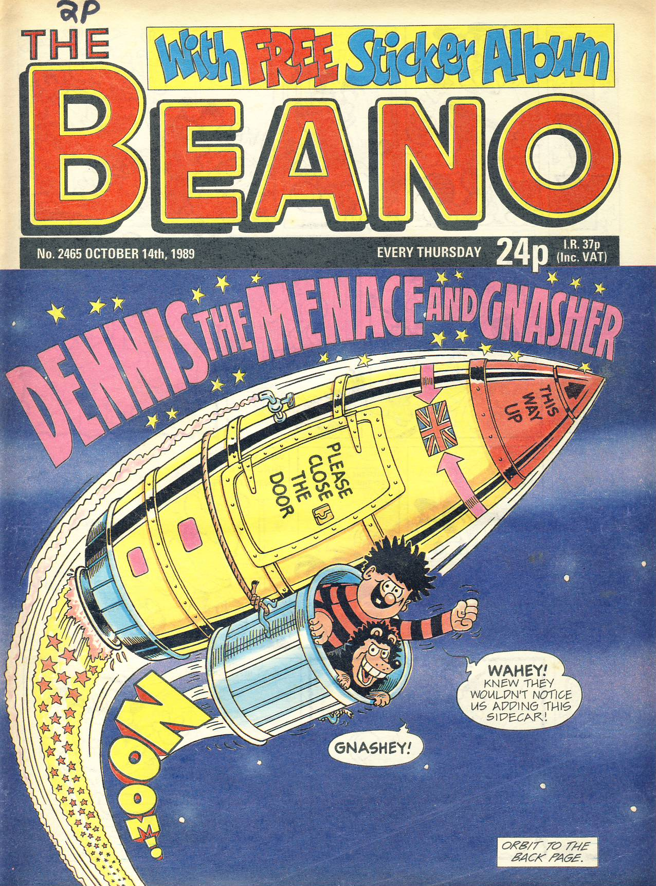 1989 October 14th BEANO vintage comic Good Gift Christmas Present Birthday Anniversary ref324a pre-owned item in good read condition.