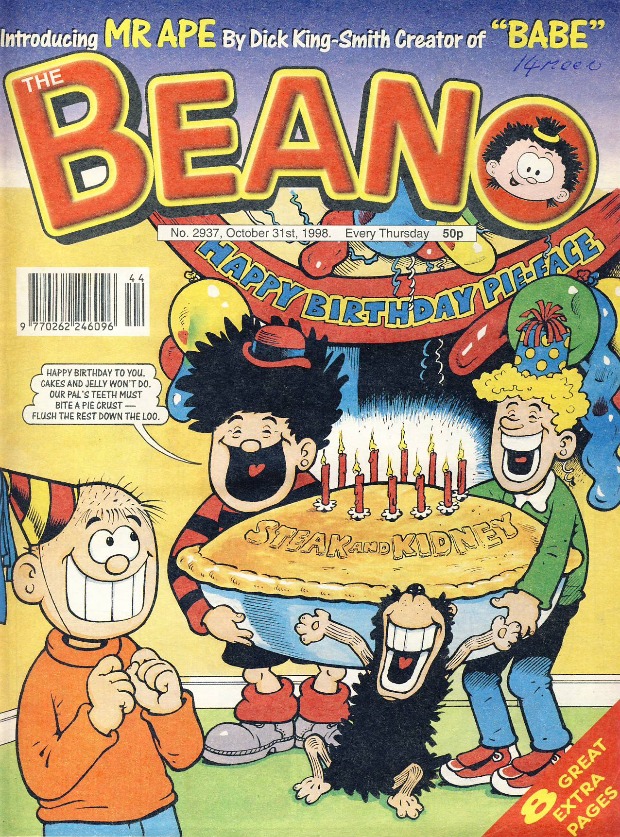 1998 October 31st BEANO vintage comic Good Gift Christmas Present Birthday Anniversary ref325a pre-owned item in good read condition.