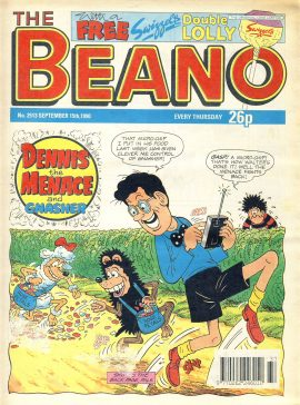 1990 September 15th BEANO vintage comic Good Gift Christmas Present Birthday Anniversary ref326a pre-owned item in good read condition.