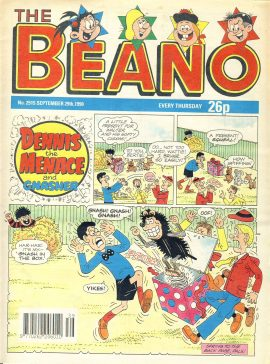 1990 September 29th BEANO vintage comic Good Gift Christmas Present Birthday Anniversary ref327a pre-owned item in good read condition.