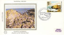 1981 GIANT'S CAUSEWAY BS4c National Trusts Benham Sm Silk Cover refF490Postmarked Bushmills Co. Antrim. Very good condition. Unsealed with insert card. Ideal for gift