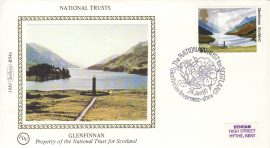 1981 GLENFINNAN BS4a National Trusts Benham Sm Silk Cover refF492Postmarked Inverness-shire SCOTLAND. Very good condition. Unsealed with insert card. Ideal for gift