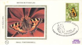 1981 SMALL TORTOISESHELL BS3a BRITISH BUTTERFLIES Benham Sm Silk Cover refF496Postmarked BRAMBER STEYNING W.SUSSEX. good condition. Unsealed with insert card. Ideal for gift