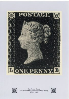 Penny Black Postcard with 10th January 1990 fdi 29p stamp refF602 CDS Medway and Maidstone postmark first day of issue. Very good condition.