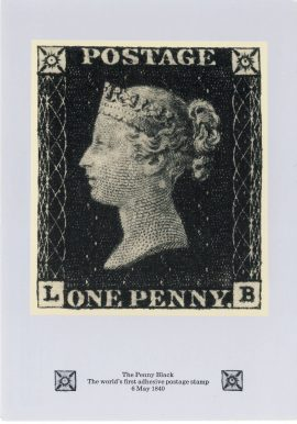 Penny Black Postcard with 10th January 1990 fdi 20p stamp refF603 CDS Medway and Maidstone postmark first day of issue. Very good condition.
