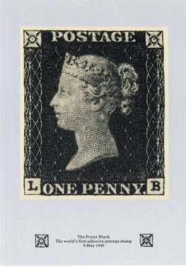 Penny Black Postcard with 10th January 1990 fdi 37p stamp refF605 CDS Medway and Maidstone postmark first day of issue. Very good condition.