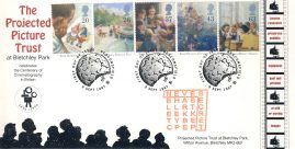 9th Sept 1997 ENID BLYTON'S FAMOUS FIVE Projected Picture Trust BLETCHLEY PARK Limited Edition cover FDC postmark This is a limited edition Enigma Codebreakers Enid Blyton stamps cover numbered 3 of 31.  Very good condition.