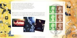 1997 Birth of Radio BBC Booklet Pane of Limited Edition cover FDC postmark London W12 23 September 1997 Celebrating 75 years of the BBC. This is a limited edition 20p and 26p stamps Bradbury cover numbered 178 of 250.  Very good condition.